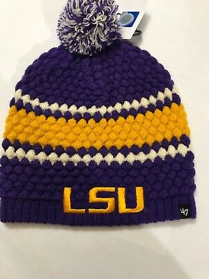 d54cee98d92 LSU TIGERS WOMEN S Hat Sequins Adjustable  47 Brand Purple Sparkle ...