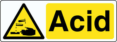 12 Warning Acid Stickers Signs High Quality