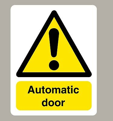 4 X Automatic Door Stickers Signs