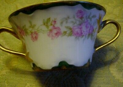 Theodore Haviland Limoges France Schleiger Antique One Bouillon Bowl Cup