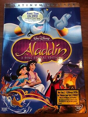 Aladdin Platinum 2-disc DVD, RARE, Buena Vista Stamp, new, Engl/Span/French. OBO