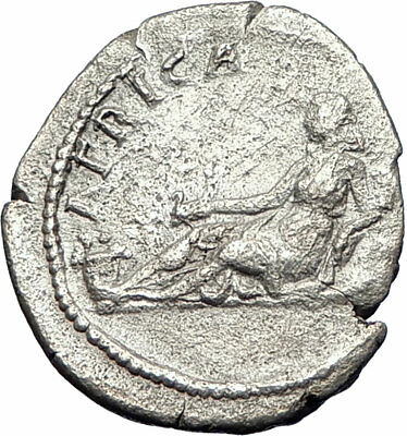 HADRIAN Travels to AFRICA Authentic Ancient 134AD Rome Silver Roman Coin i73528