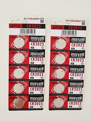 2/5/10 Pcs Cr2025 3V Lithium Button Coin Battery Made In Japan Expires: 12/2028