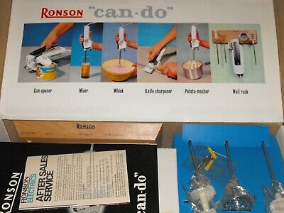 """Ronson """" can-do """" Kitchen Magician Can Opener Boxed Vintage 1960's Set Complete"""