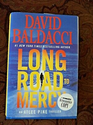 Long Road to Mercy David Baldacci (2018, Hardcover) Signed Autographed 1st