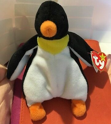 Ty Beanie Babies RARE Waddle the Penguin w/Tags (tag Errors!) 1995 Retired MINT!