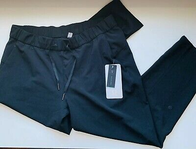 fbbe2ebc5 Lululemon Size 12 On The Fly Pant Black BLK 7 8 Relaxed Travel Friendly  Luxtreme