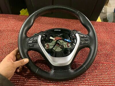 Bmw 2012-2018 F30 F22 F32 Steering Wheel Leather With Paddle Shifters Oem 35K