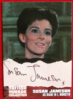 """BRITISH HORROR COLLECTION - SUSAN JAMESON as Diane in """"I, MONSTER"""" Autograph SJI"""