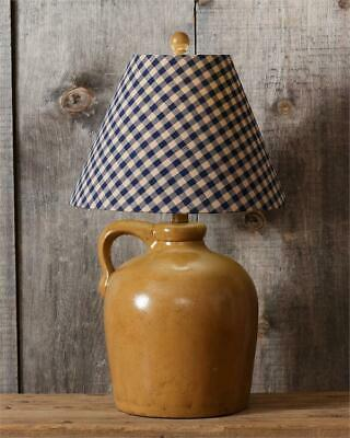 New Primitive Country Antique Style Navy JUG CROCK LAMP Electric Table Light