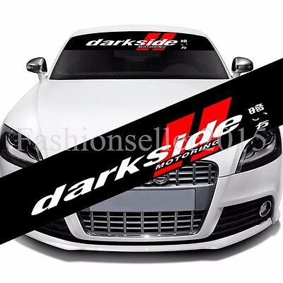 REFLECTIVE FRONT WINDSHIELD Banner Decal Vinyl Car Stickers DIY Auto  Accessories