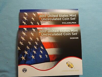 2017 Uncirculated Mint Set U17  Denver & Philadelphia Minted Sets  20 Coins