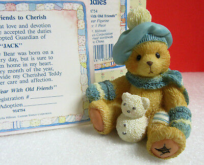 Cherished Teddies A NEW YEAR WITH OLD FRIENDS January Bear Jack Figurine