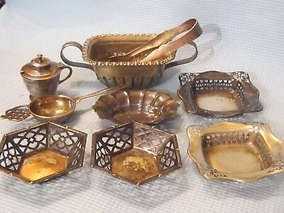 Mixed Lot of 9 Vintage Silverplate Items.