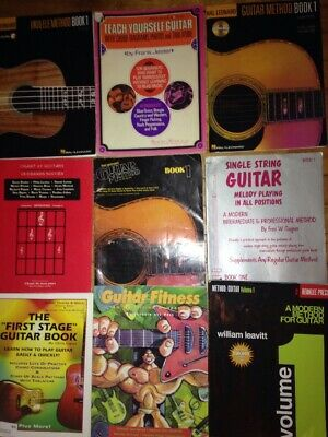 9 Guitar SONGBOOK Book LOT Instruction Books Music Mel Bay Vintage & New W CD