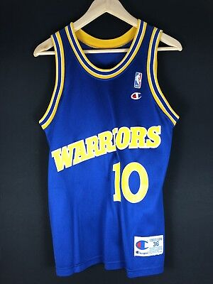 Rare Champion Tim Hardaway WARRIORS NBA Trikot Basketball Jersey Jordan Curry