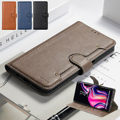 For Samsung A9 2018 A7 J6 Plus J4 Case Luxury Flip Leather Magnetic Wallet Cover