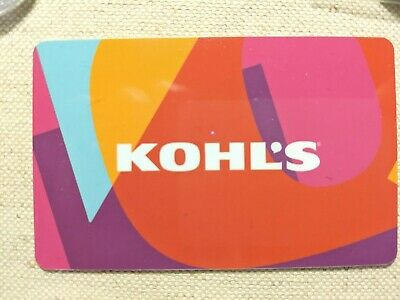 Kohls 50 Gift Card with the scratch off still on