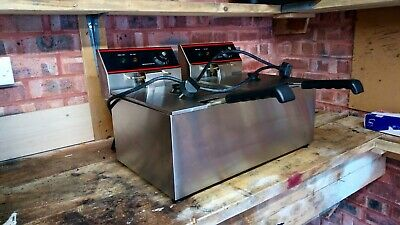 commercial double chip fryer