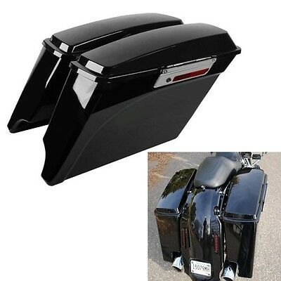 """5"""" Stretched Extended Hard Saddlebags Trunk For Harley Touring Models 1993-2013"""