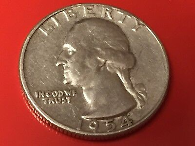 America - Stati Uniti Washington Quarter Dollar 1954 argento