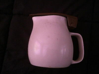 Kambrook one litre cream and brown vintage electric jug with element