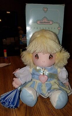 "Precious Moments ""Marcy"" I'm Cheering For You Plush Doll #9010 of 15,000. IOB"