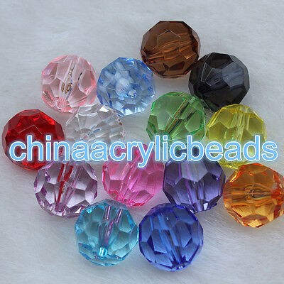 1413f07401a45 4MM-20MM ACRYLIC CRYSTAL Faceted Round Loose Ball Beads Spacer Bubblegum  Beads