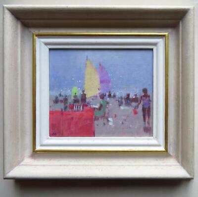 STEPHEN BROWN RBA (1947-) British IMPRESSIONIST Original Oil Painting SEASIDE