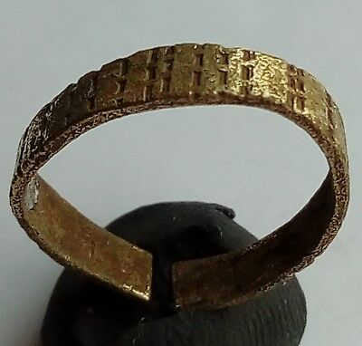 Bronze Byzantine Wedding Band