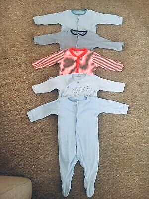 Next Baby Boy Babygrows Sleepsuits 6-9 Months