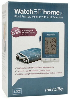 Blood Pressure Monitor Microlife WatchBP HomeS with AF Atrial Fib Detection