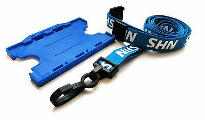 NHS Lanyard Breakaway with Double Sided Blue NHS ID Card Holder Free P&P