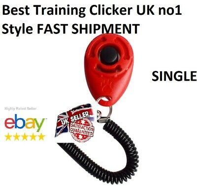 Red DOG  PET TRAINING CLICKER/TRAINER TEACHING TOOL /DOGS/PUPPY with Wrist