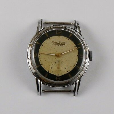ANTIQUE VINTAGE SWISS ART DECO WRISTWATCH OMIKRON 21 JEWELS 38 mm