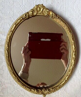 Antique 19th Century Mirror, Moulded Plaster Over Wood Frame, Gold Gilted