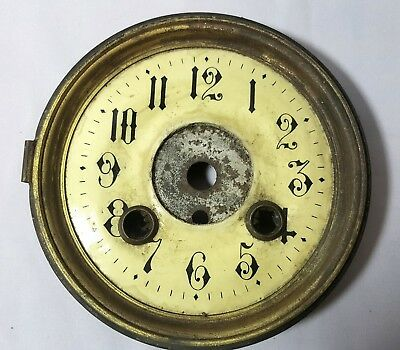 Vintage / Antique Brass Clock Face for restoration / Parts / Steampunk