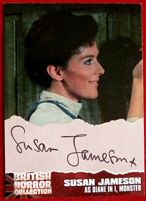"""BRITISH HORROR COLLECTION - SUSAN JAMESON as Diane in """"I, MONSTER"""" Autograph SJ2"""