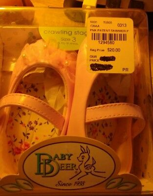 NIB Genuine Leather NEW Baby Deer Crawling Stage Size 3 Infant Crib Shoes