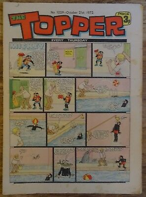 #1029 TOPPER COMIC.  21st OCTOBER 1972.