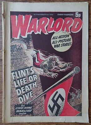 #7 WARLORD COMIC. 9th NOVEMBER 1974. EARLY EDITION.