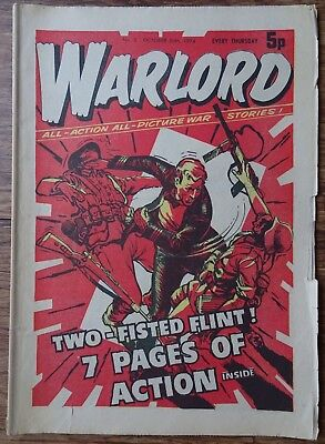 #5 WARLORD  26th OCTOBER 1974. EARLY EDITION.