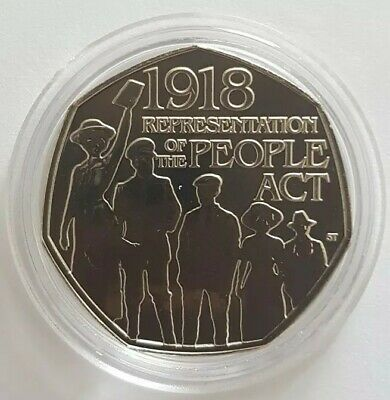 2018 Royal Mint The People Act fifty pence 50p coin Brilliant Uncirculated BU UK