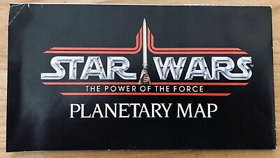 Star Wars Kenner 1985 Power of the Force Planetary Map Endor B