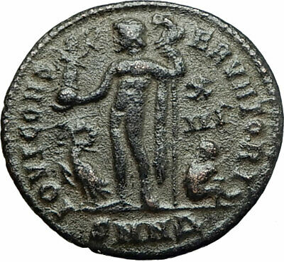 LICINIUS I Constantine The Great enemy 321AD Ancient Roman Coin Jupiter i75815