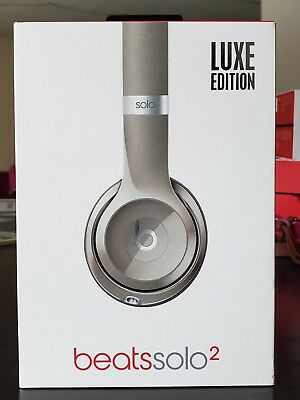 Authentic Beats by Dr. Dre Solo 2 Wired On-Ear Headphones, Luxe Edition - Silver