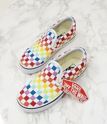 eb84092eedfd VANS SLIP-ON SLIP On Rainbow White Checkerboard Multi-Color PS Men ...