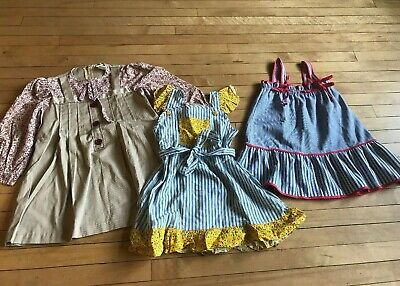 Lot Of 3 Vintage Girls 3-5 year old?  Dresses Boho Prairie