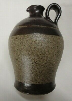 Studio Pottery Stoneware Oil Bottle Or Water Jug, Marked
