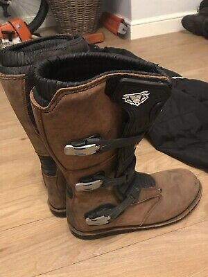 WULF Wulfsport TRIALS Boots UK Size 10 Brown 42 Adventure Off Road Enduro